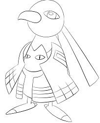 Xatu Pokemon Coloring Page