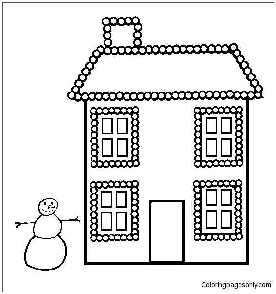 Xmas Lights  Coloring Page