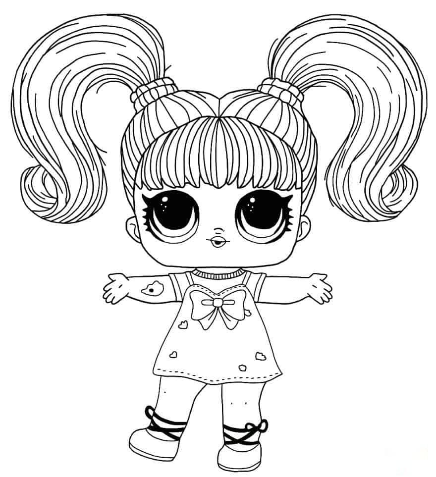 Lol Suprise Doll Yanggirl Coloring Page