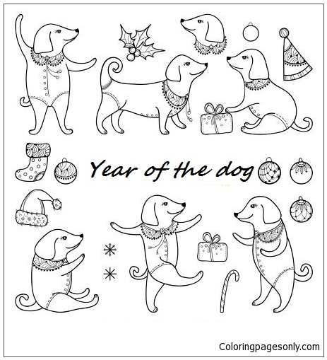 Year Of The Dog 1 Coloring Page