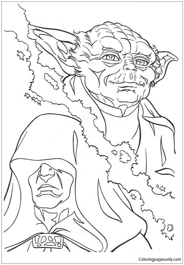 Yoda And Emperor Coloring Page - Free Coloring Pages Online