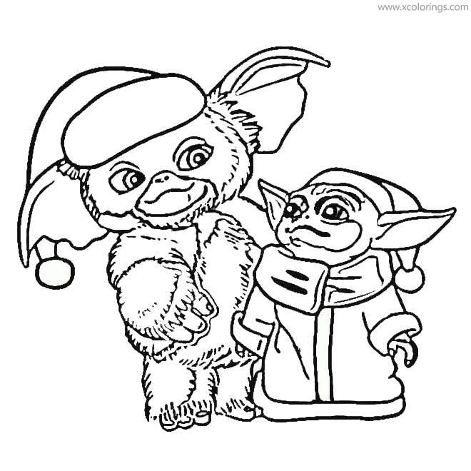 Yoda and Koala Coloring Page