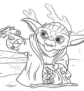 Yoda from Star Wars - image 1 Coloring Page