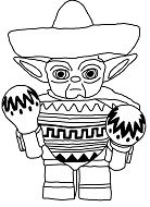 Yoda from Star Wars Coloring Page