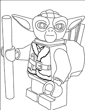 Yoda Lego Coloring Pages