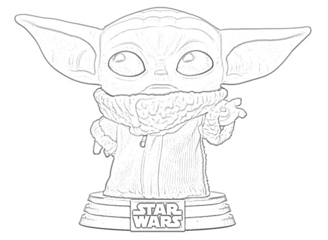 Yoda Trophy Coloring Page