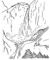 Yosemite National Park Coloring Page
