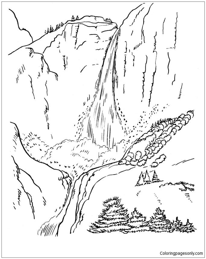 Yosemite National Park Coloring Page