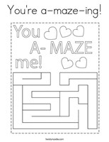 You Are Amazing With Me Coloring Page
