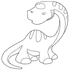 Young Diplodocus Dinosaur Coloring Page