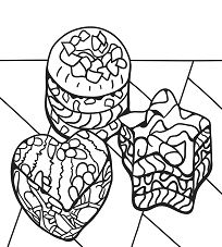 Zentangle Desserts Coloring Page