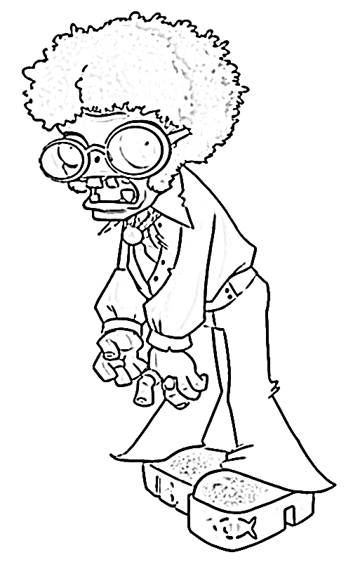 Dancing Zombie current Coloring Page