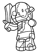 mutant minecraft coloring pages online - photo#36