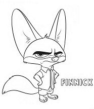 Zootopia – Finnick Coloring Page