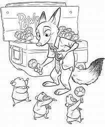 Zootopia 6 Coloring Page