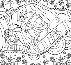 Zootopia For Adults Coloring Page