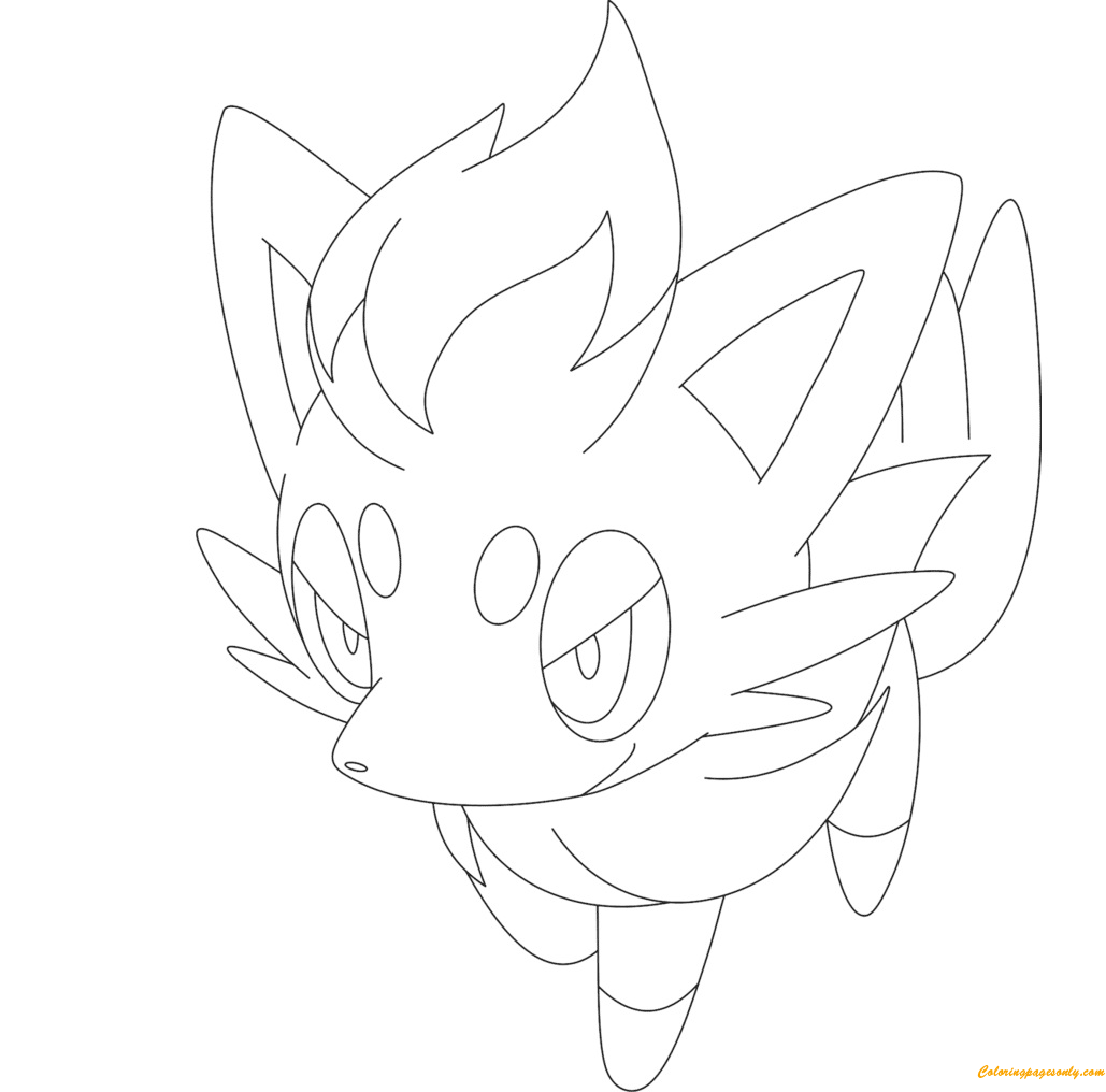 Zorua Pokemon Coloring Page Free Coloring Pages Online
