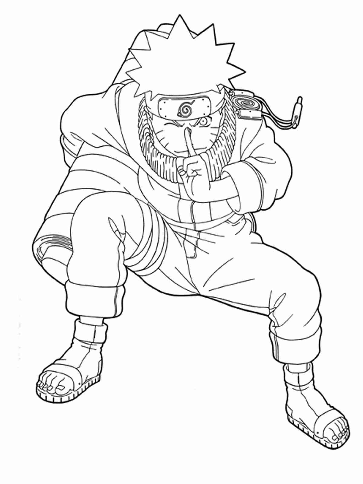 Naruto Boy winks his eyes Coloring Page