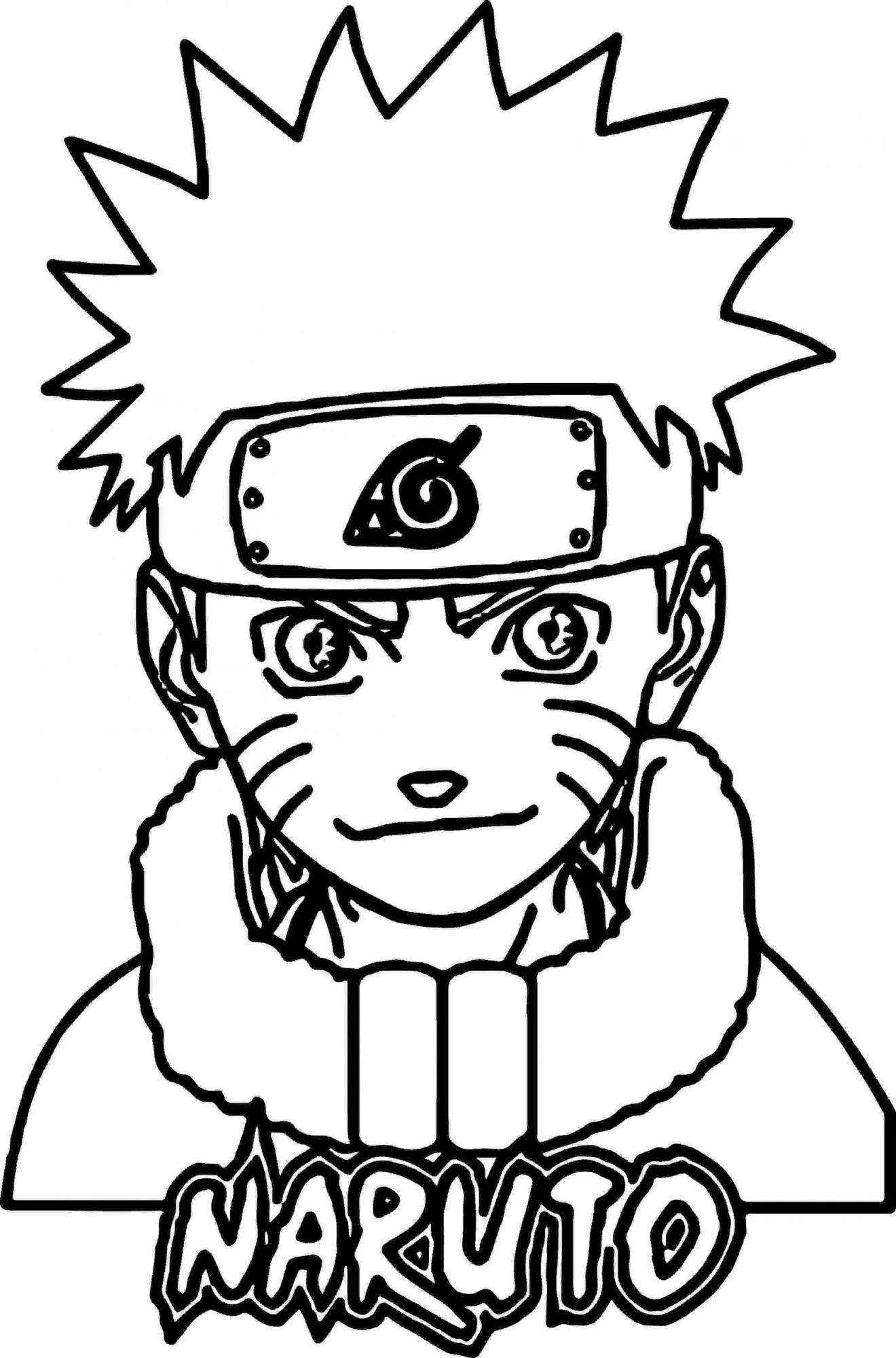 Naruto in childhood Coloring Page