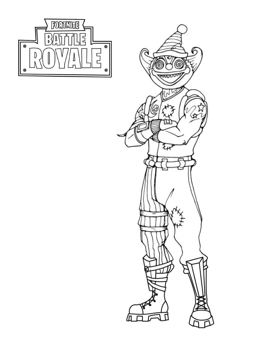 Creepier Nite Nite from Fortnite Coloring Page