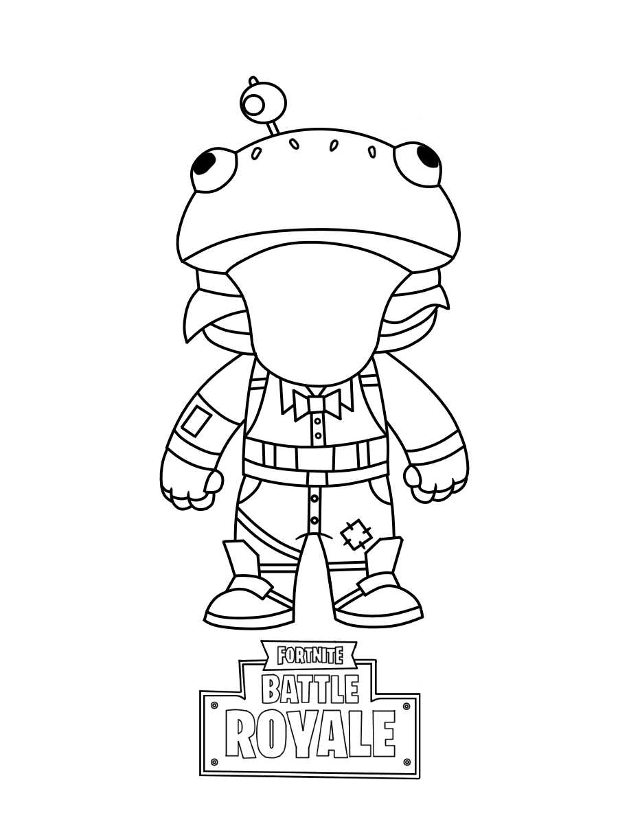 Funny Chibi Beef Boss from Fortnite Coloring Page