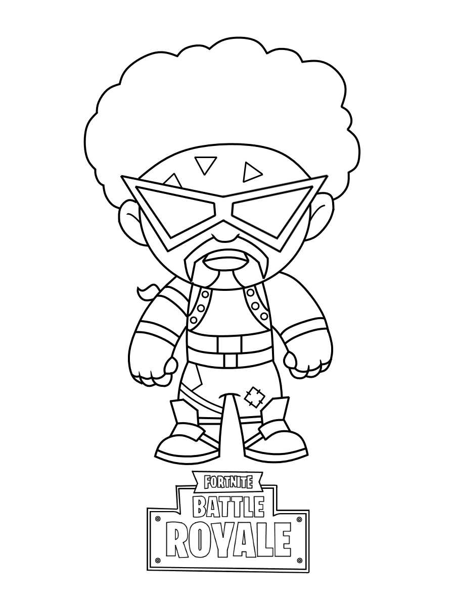 Baby Funk Ops in Fortnite is clearly by the classic disco style of the 80s Coloring Page