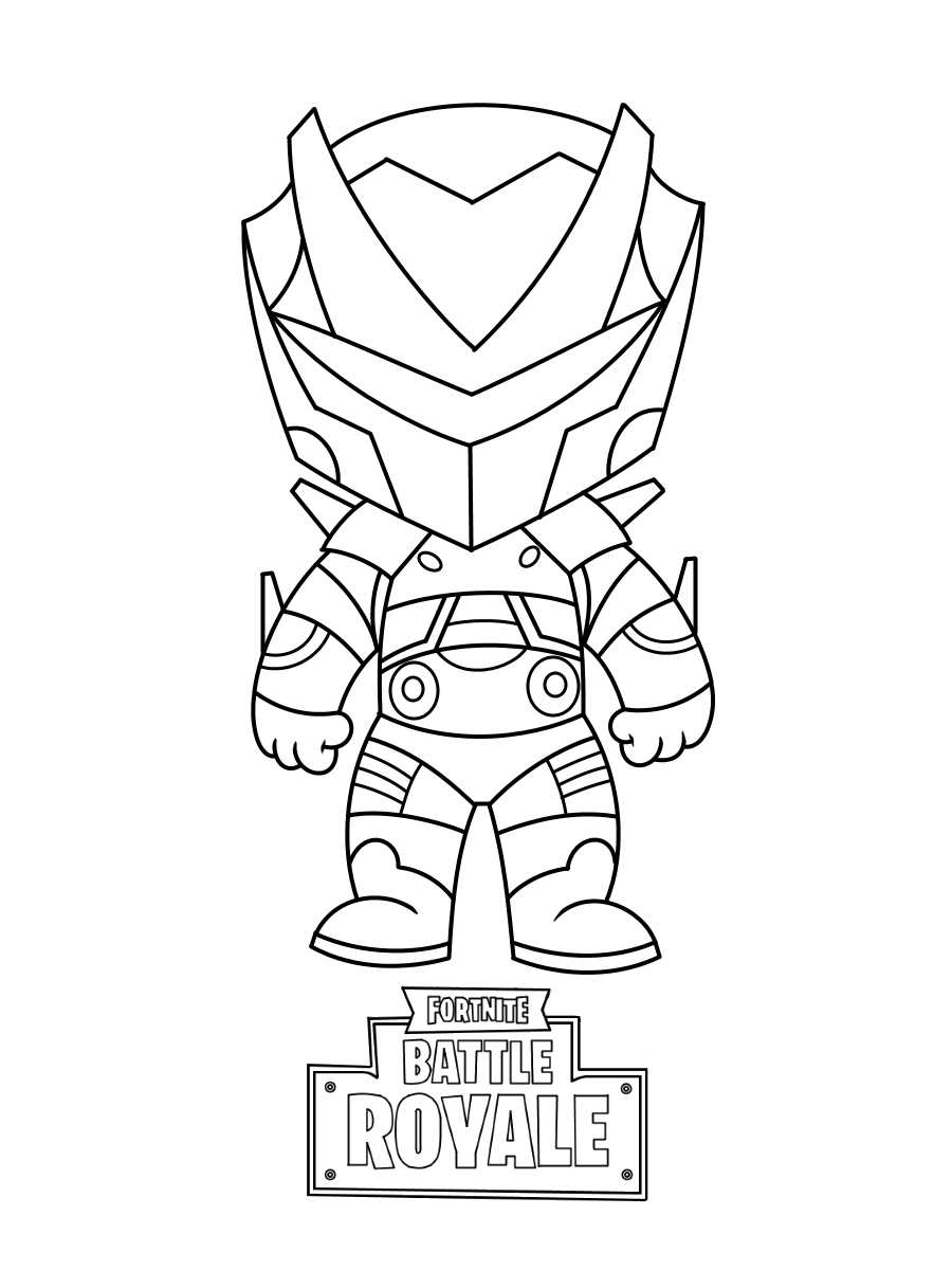 Fortnite Baby Omega Coloring Page