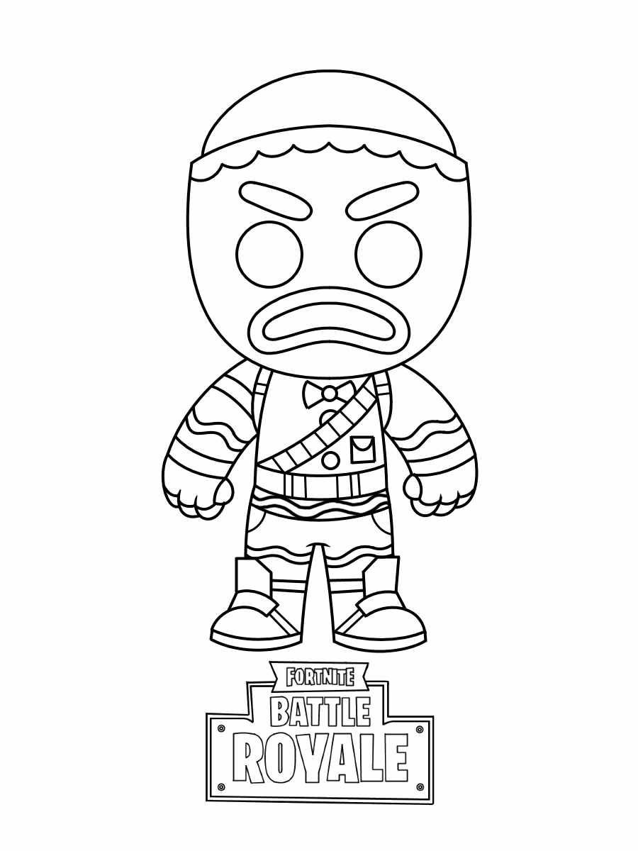 Chibi Merry Marauder wears Gingerbread set Coloring Page