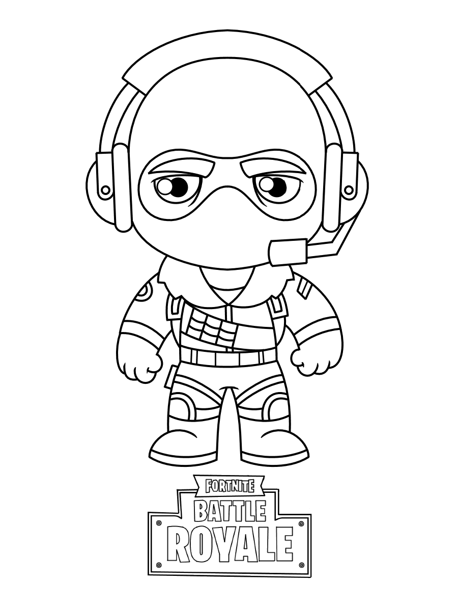 Chibi Raptor from Fortnite Coloring Page