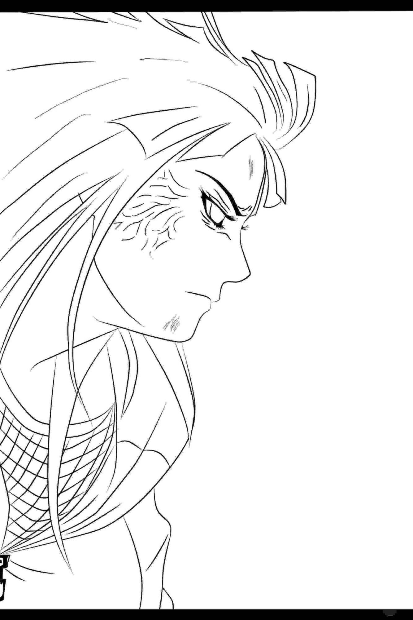 Hinata Adult uses Byakugan Jutsu in Naruto Coloring Page