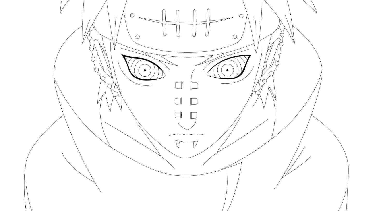 Yahiko is one of Six paths of Pain Coloring Page