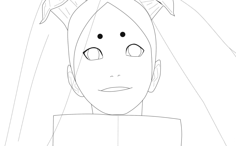 Momoshiki Otsutsuki in Naruto has white eyes Coloring Page