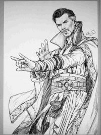 Dr.Strange demonstrates his skills from Doctor Strange movie Coloring Page