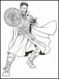 Dr.Strange from Doctor Strange created shields for himself Coloring Page