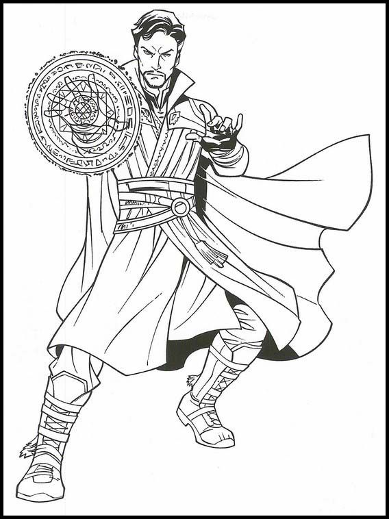 Dr.Strange from Doctor Strange created shields for himself Coloring Pages