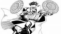 Strange wielding his Tao Mandalas in battle from Doctor Strange MCU Coloring Page
