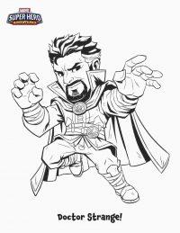 Marvel Superhero Adventures Doctor Strange cartoon Coloring Page