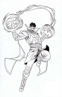 Doctor Strange uses all of the techniques of Acient One to create shields for himself Coloring Page