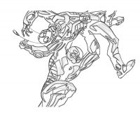 Hank Pym thrown Ant-man from above to the ground in Ant-man cartoon Coloring Page