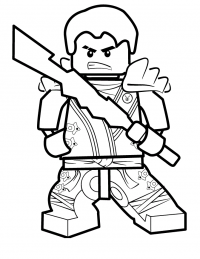 Lego Ninjago Lloyd brings Elemental Blades Coloring Page