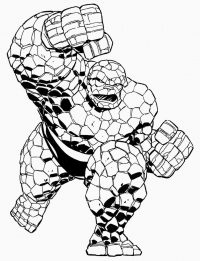Thanos in the Avengers Infinity War transforms to Rock-shaded Coloring Page