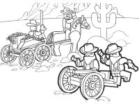 Ambush of Cowboy Ninja from Lego Ninjago Coloring Page