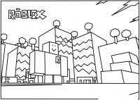 Factory in Roblox Coloring Page