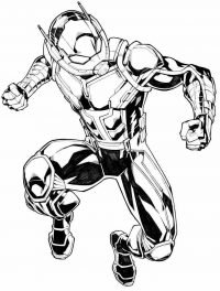 Ant man prepares to hit the punch Coloring Page