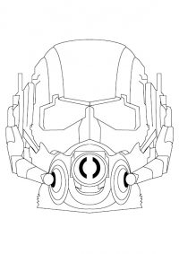 Head of the wasp robot in Ant-man movie Coloring Page