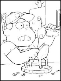 Bill fix woody reindeer from Big CIty Greens Coloring Page