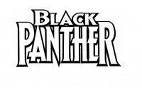 Black Panther Logo from Black Panthet movie Coloring Page