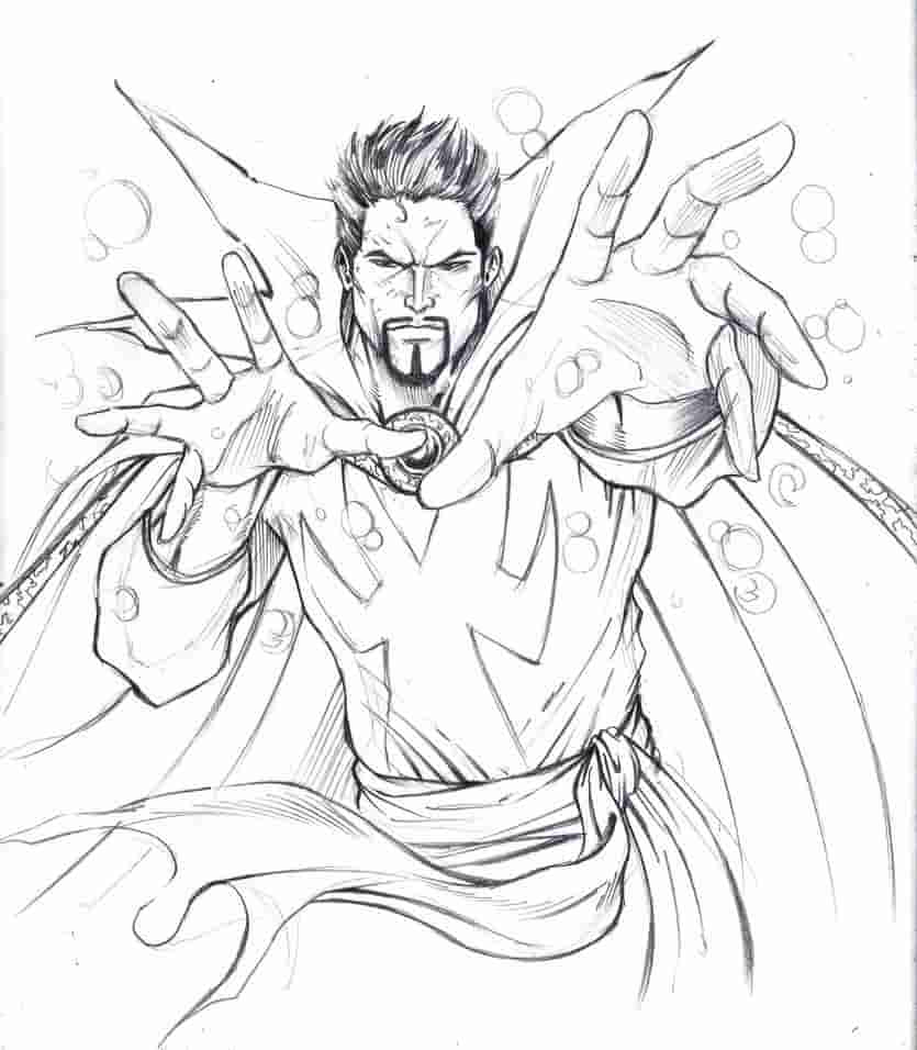 Doctor Strange Avenger Coloring Page