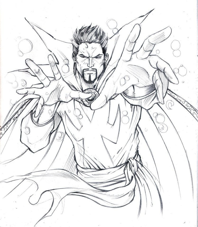Doctor Strange Avenger Coloring Pages