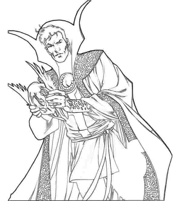 Doctor Strange King Coloring Page